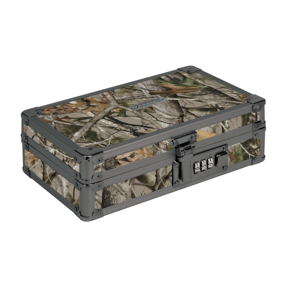 Vaultz Locking Utility Box, 2.75 x 8.25 x 5.5 in., Next Camo
