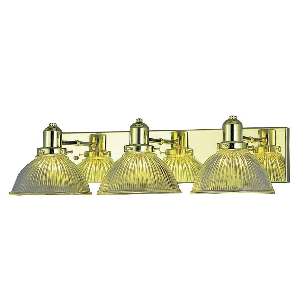 Filament Design Lenor 3-Light Polish Brass Incandescent Bath Vanity
