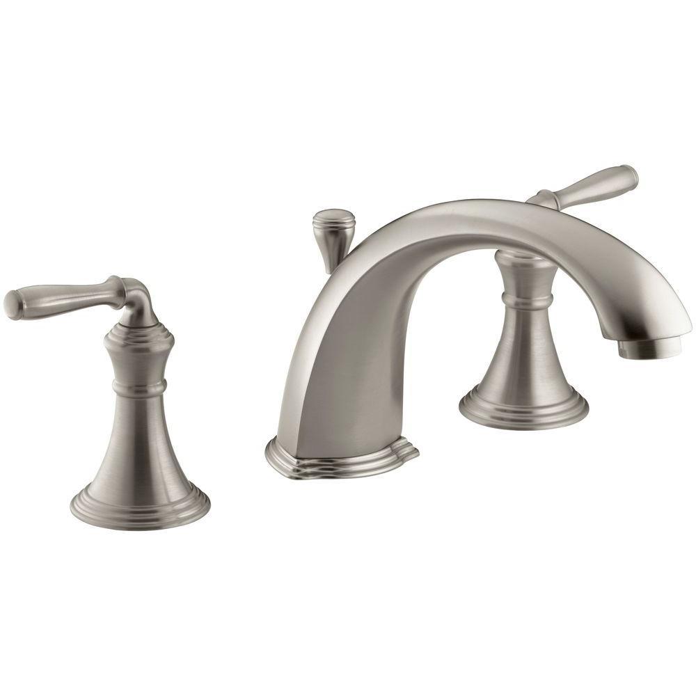 Devonshire 2-Handle Deck-Mount Roman Tub Faucet Trim Kit in Vibrant Brushed