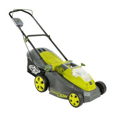 iON16LM 16 in. 40-Volt Cordless Battery Walk Behind Push Mower with Brushless Motor - 4.0 Ah Battery/Charger Included