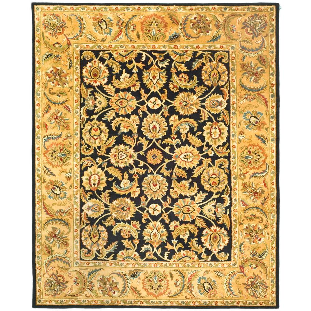 Safavieh Classic Black/Gold 6 ft. x 9 ft. Area Rug