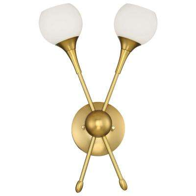 Pontil 2-Light Honey Gold Wall Sconce
