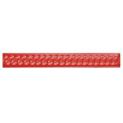 Trenza Roja Moldura 1 in. x 7-7/8 in. Ceramic Rope Pencil Wall Trim Tile