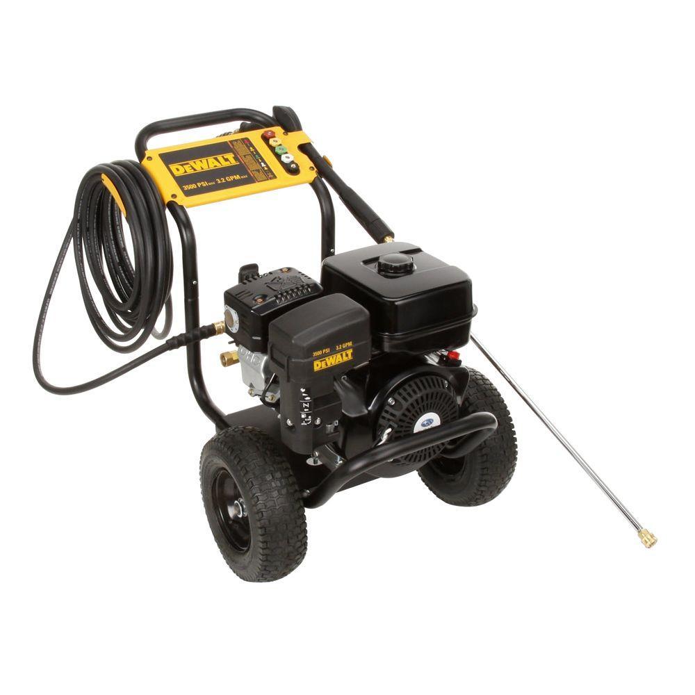 DEWALT 3500 psi 3.2 GPM Triplex Plunger Pump Professional Gas Pressure Washer