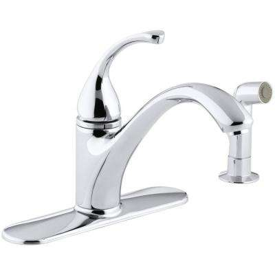 Forte Single-Handle Standard Kitchen Faucet with Side Sprayer in Polished Chrome