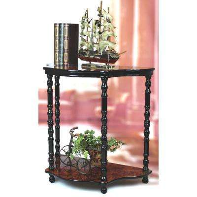 2-Tier Entryway Console Table with Espresso Marble