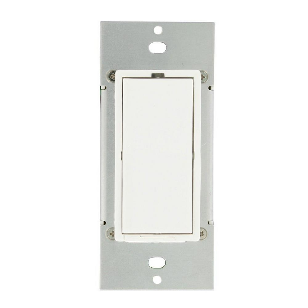 Leviton 600-Watt HLC UPB Dimmer Switch, White-35A00-1 - The Home Depot