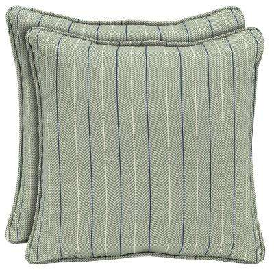 CushionGuard Surplus Elle Stripe Square Outdoor Throw Pillow (2-Pack)