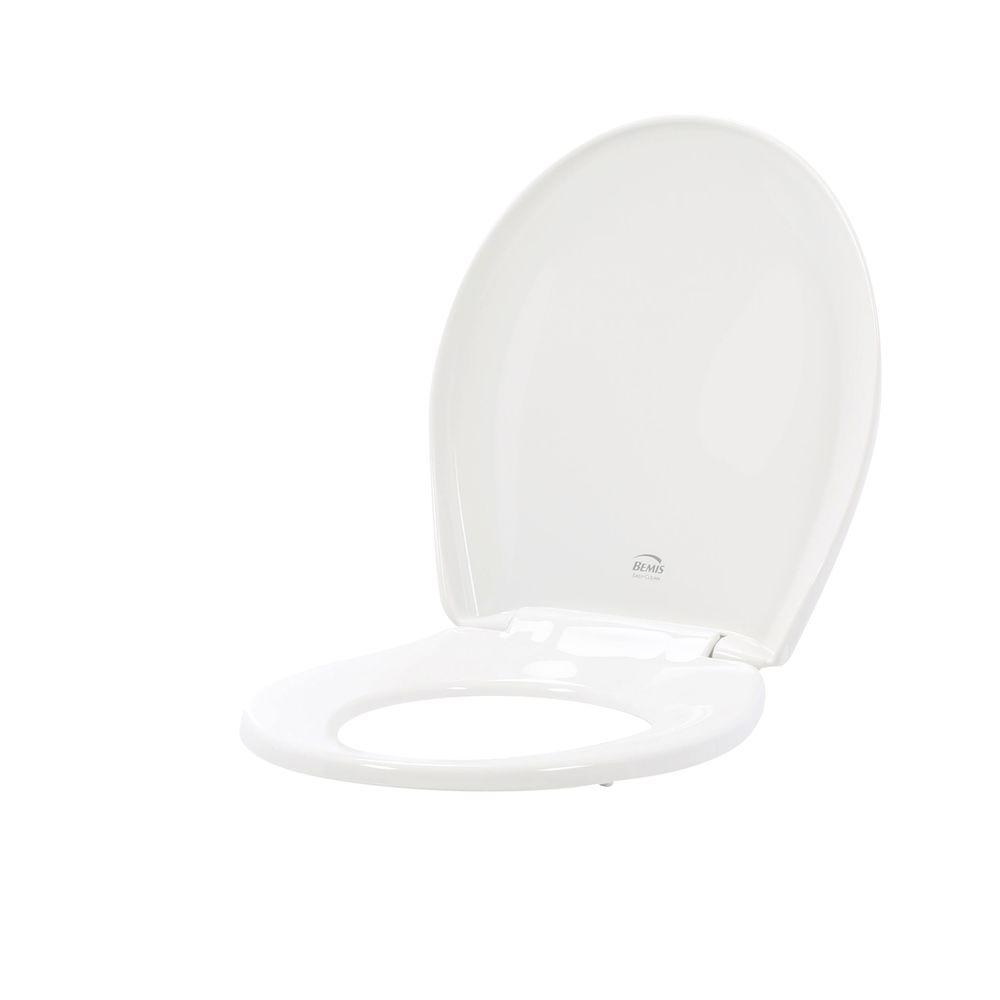 BEMIS Slow Close STA-TITE Round Closed Front Toilet Seat in White