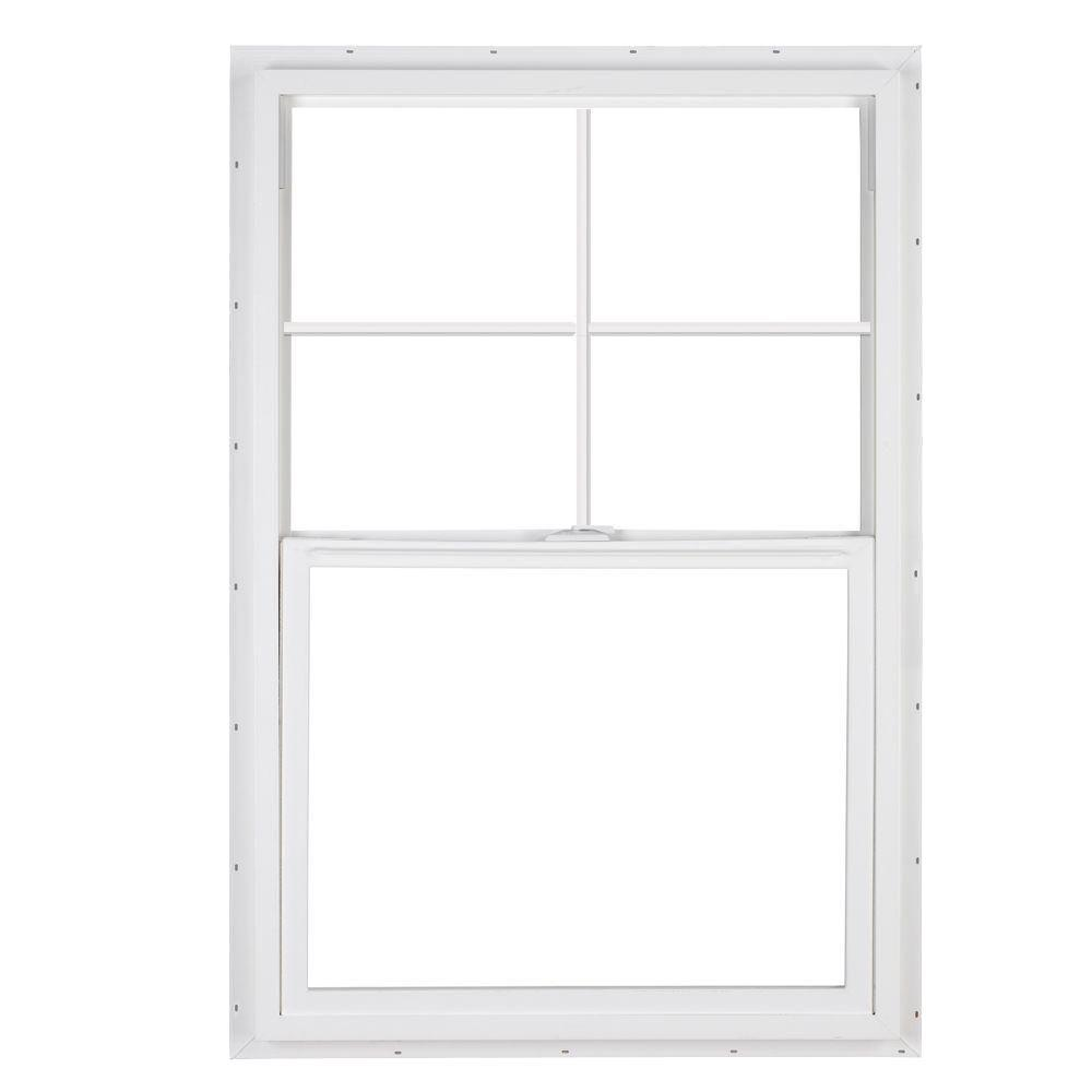 simonton 36 in x 48 in daylightmax single hung vinyl window white dmsh 3648whl2caarhs the