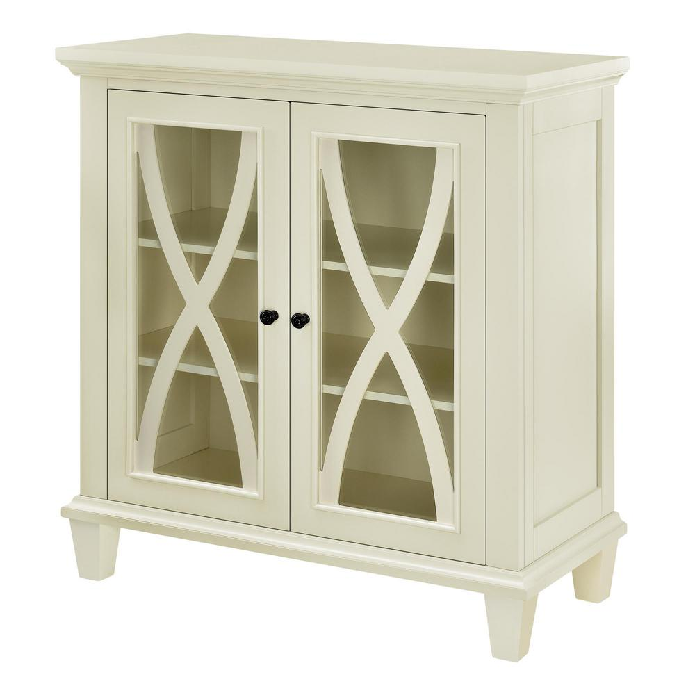 Ameriwood Home Satinwood Ivory Storage Cabinet-HD54837 - The Home Depot