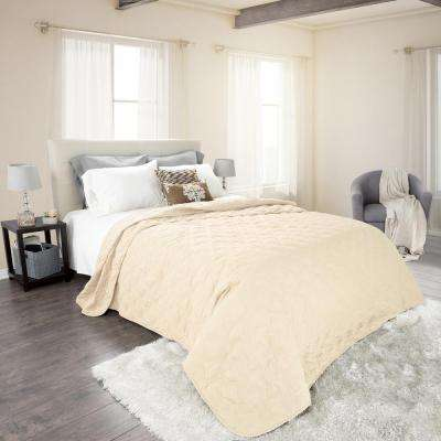 Classic Ivory Polyester King Quilt