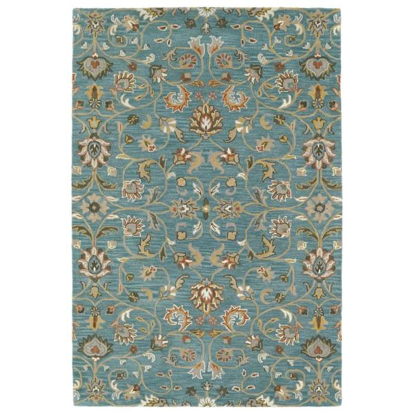 Middleton Turquoise 5 ft. x 8 ft. Area Rug