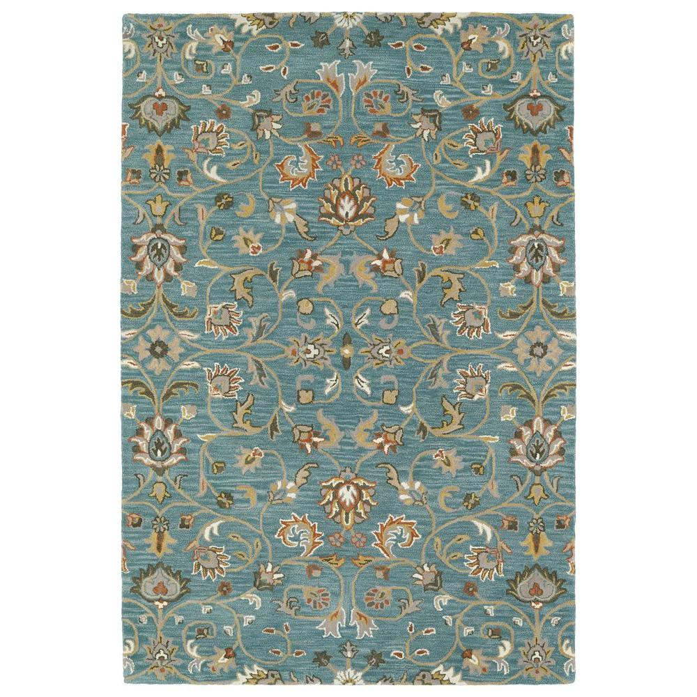 Kaleen Middleton Turquoise 8 Ft X 10 Area Rug