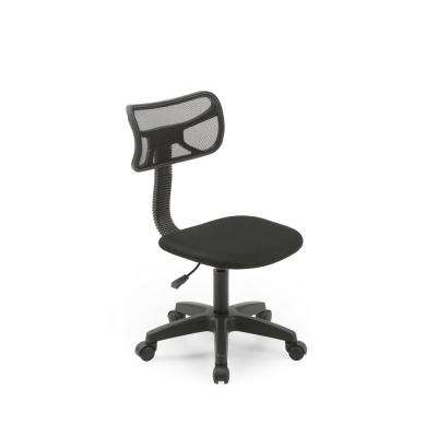 Black Mesh, Mid-Back, Adjustable Height, Swiveling Task Chair with Padded Seat
