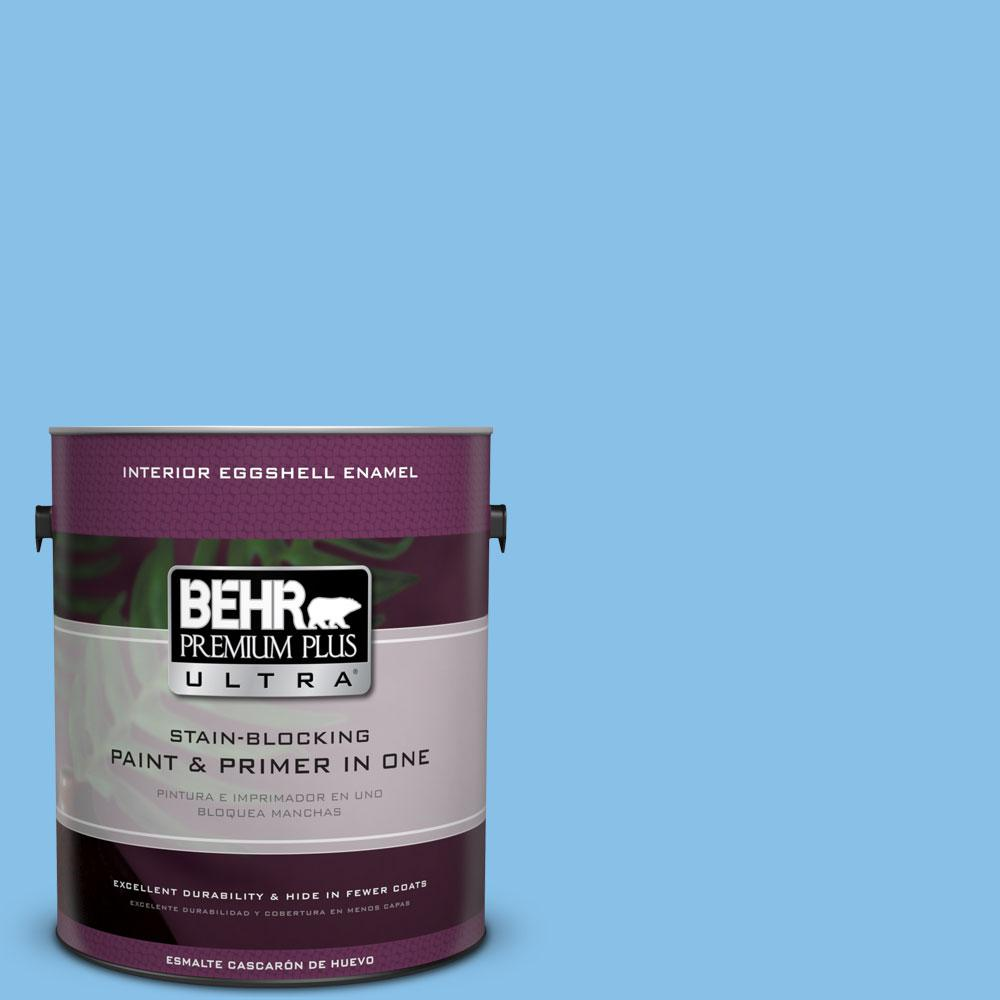 BEHR Premium Plus Ultra 1-gal. #P510-3 Rhodes Eggshell Enamel Interior Paint