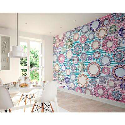 Ethnic Plates Wall Mural