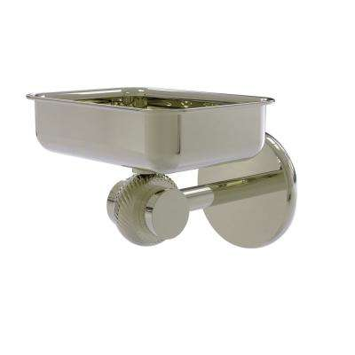Satellite Orbit Two Collection Wall Mounted Soap Dish with Twisted Accents in Polished Nickel