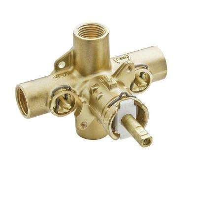 Brass Rough-in Posi-Temp Pressure Balancing Cycling Tub and Shower Valve with Stops - 1/2 in. IPS Connection