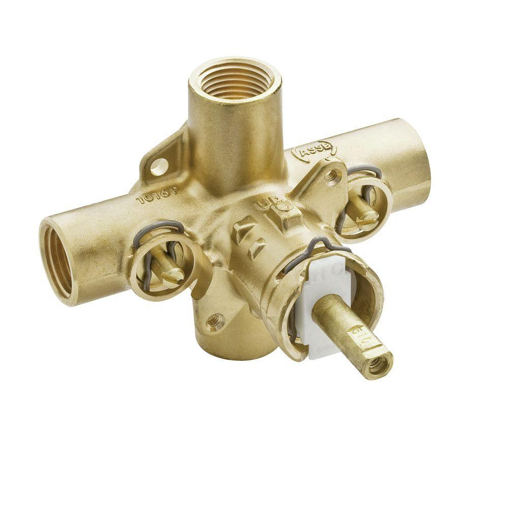 Brass Rough-in Posi-Temp Pressure Balancing Cycling Tub and Shower Valve with