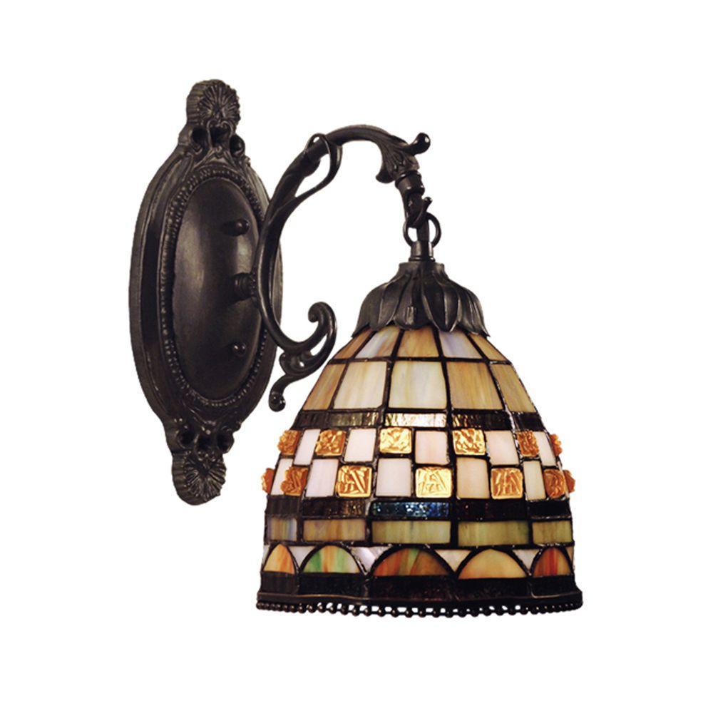 Jewelstone 1 Light Classic Bronze Sconce