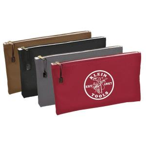 12-1/2 in. Multi-Color Zipper Bags-Canvas (4-Pack)