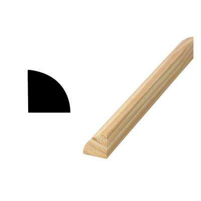 WM 103 1-1/16 in. x 1-1/16 in. x 96 in. Solid Pine Quarter Round Moulding