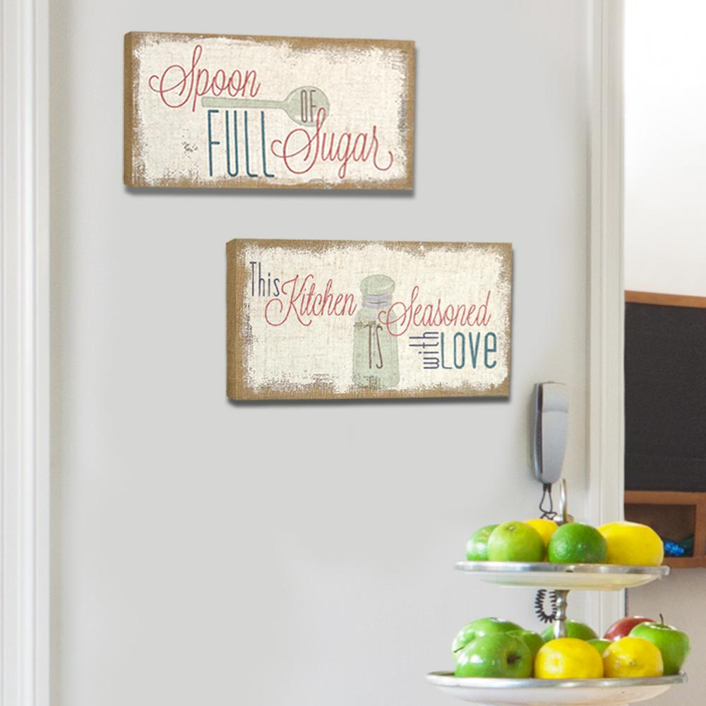 "Stratton Home Decor ""Love Simply"" Typography Burlap Decorative Sign"
