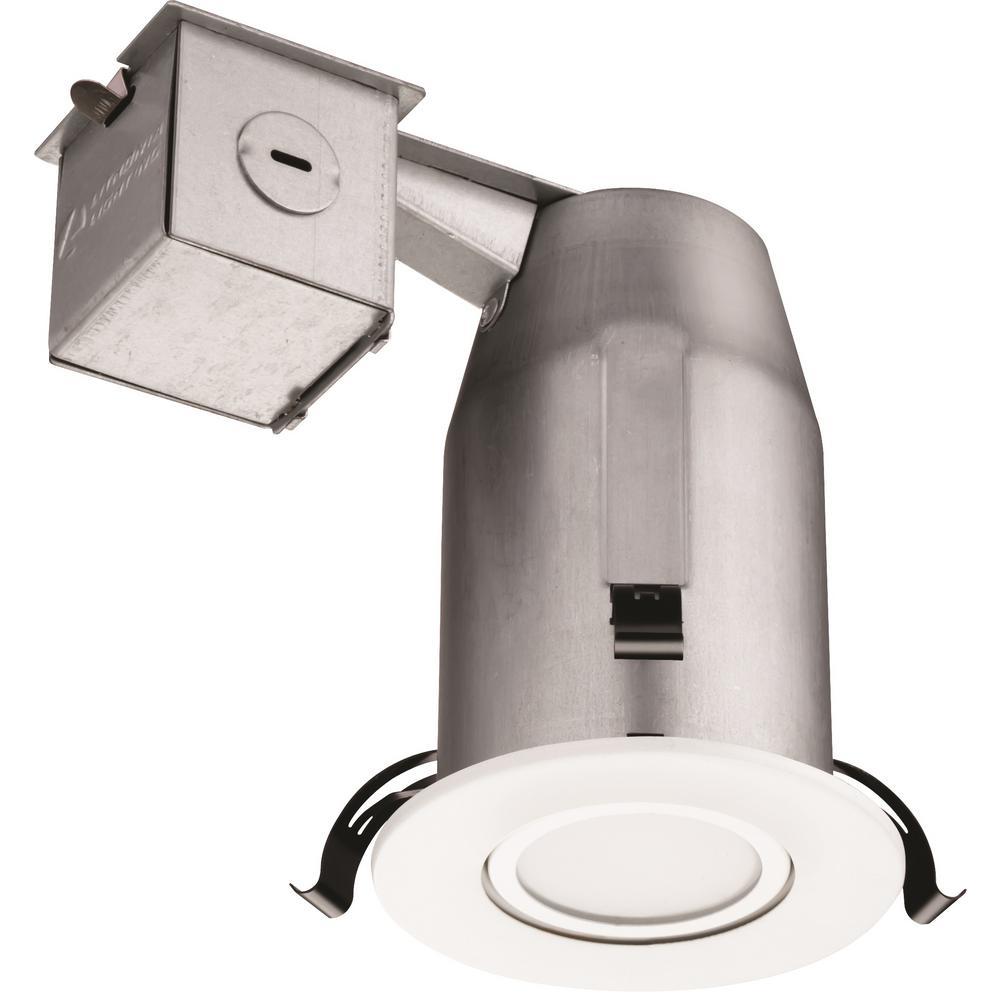 Lithonia Lighting 3 In Matte White Recessed Led Gimbal Kit