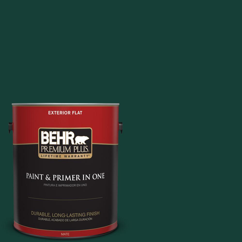 Behr Premium Plus 1 Gal Ecc 51 3 Hidden Forest Flat Exterior Paint 430001 The Home Depot
