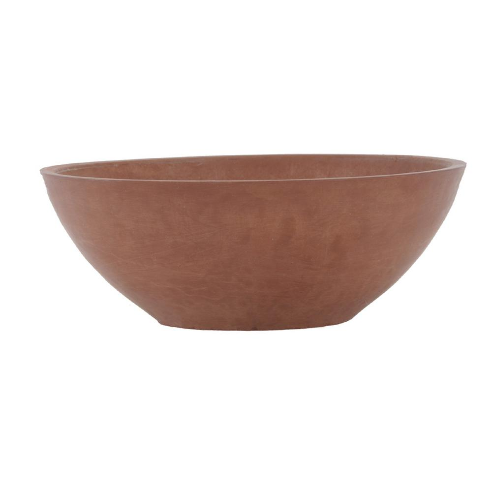 10 in. x 3 in. Garden Bowl Terra Cotta Composite PSW