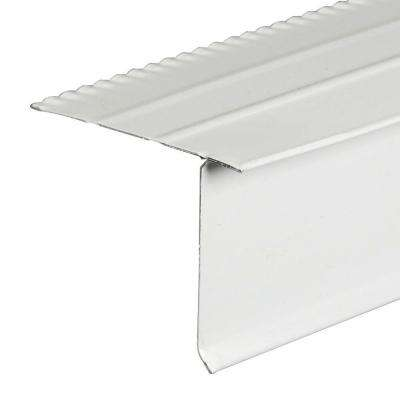 F5 1/2 S White Aluminum Drip Edge Flashing