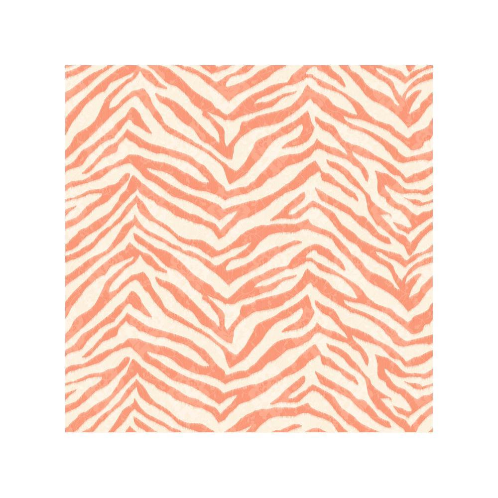 Awe Inspiring Mia Orange Faux Zebra Stripes Wallpaper Sample Interior Design Ideas Skatsoteloinfo
