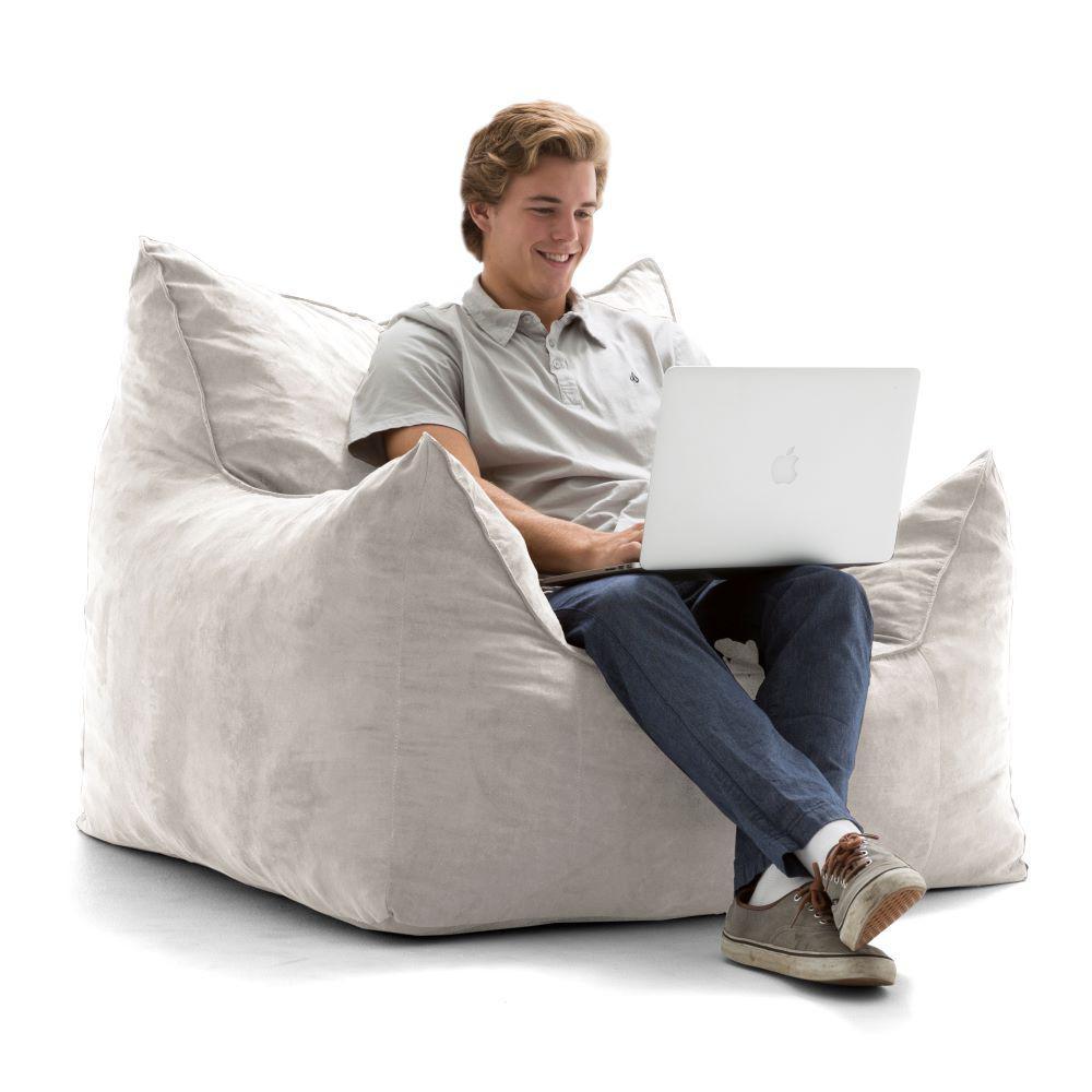 Fine Big Joe Imperial Lounger Shredded Ahhsome Foam Cement Creativecarmelina Interior Chair Design Creativecarmelinacom