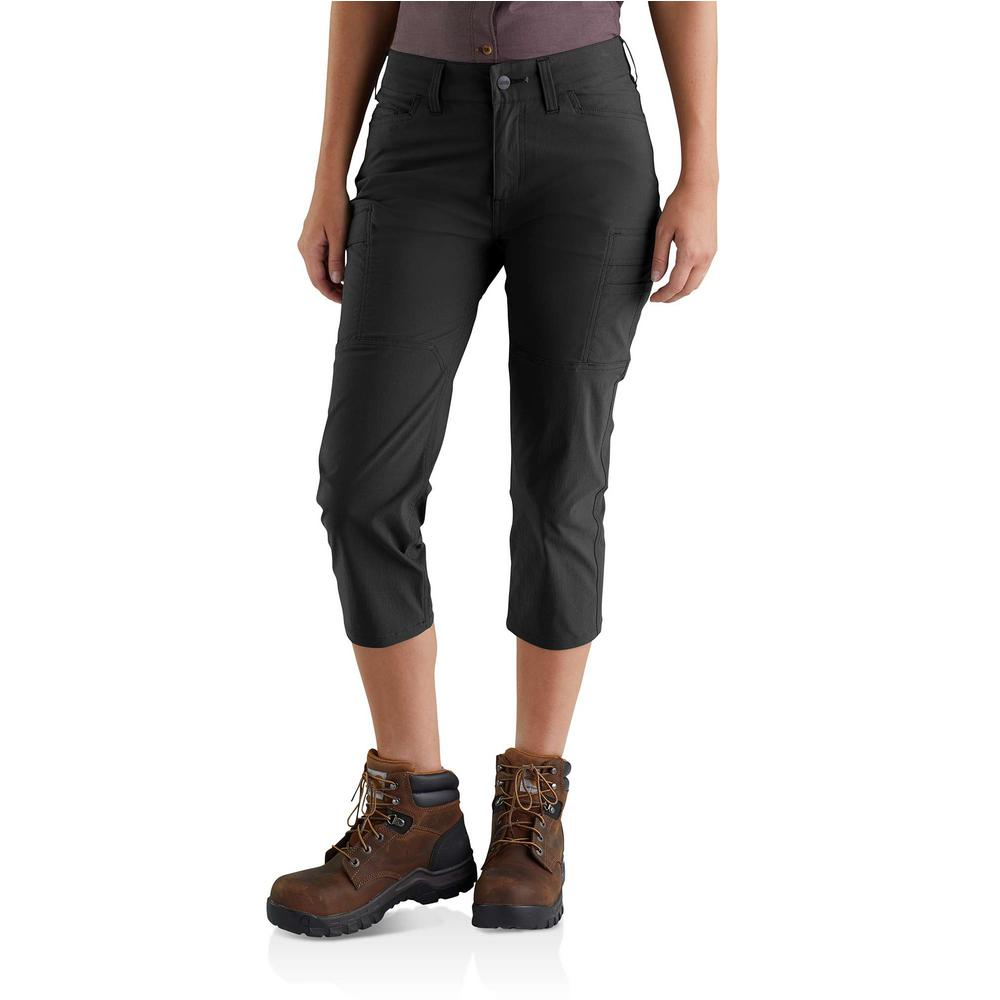 82c1d52d Women's 10 Black Nylon/Spandex Straight Fit Force Madden Cargo Capri Pant