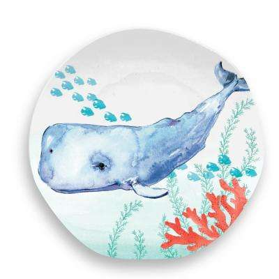 Sea Life Assorted Whale Salad Plate Whale (Set of 6)