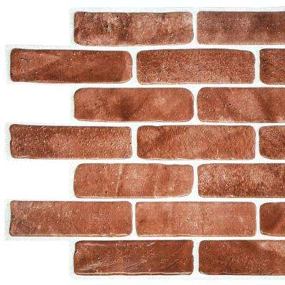 3D Falkirk Retro 10/1000 in. x 40 in. x 19 in. Vintage Brown Faux Brick PVC Wall Panel