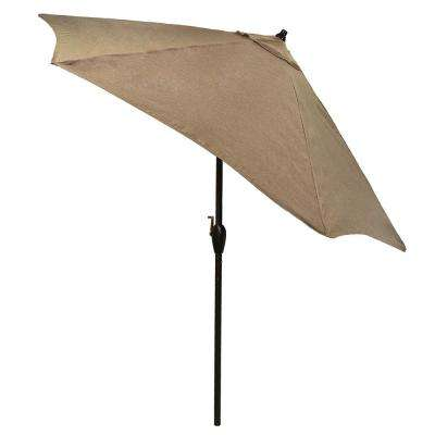 9 ft. Aluminum Patio Umbrella in Saddle with Tilt