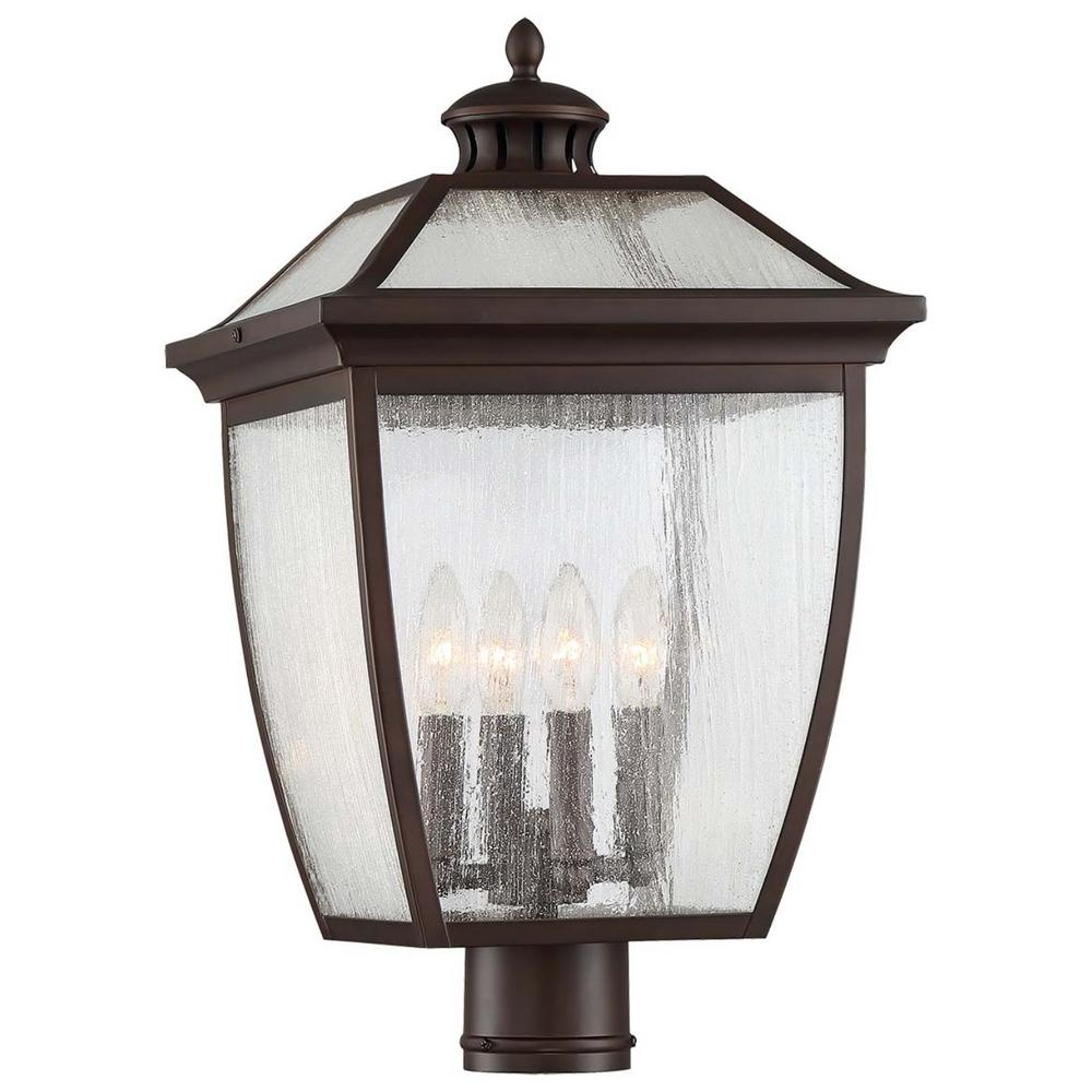 Sunnybrook 4-Light Outdoor Alder Bronze Post Light