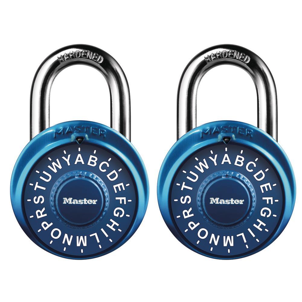 Master Lock Preset 3-Digit Letter Dial Combination Padlock (2-Pack)