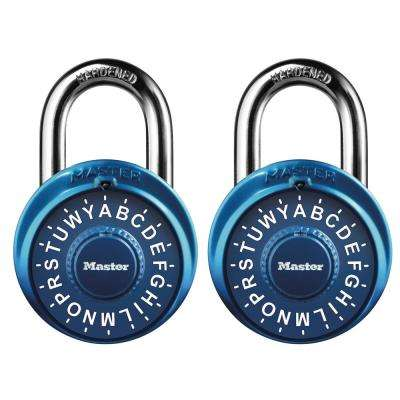 Preset 3-Digit Letter Dial Combination Padlock (2-Pack)