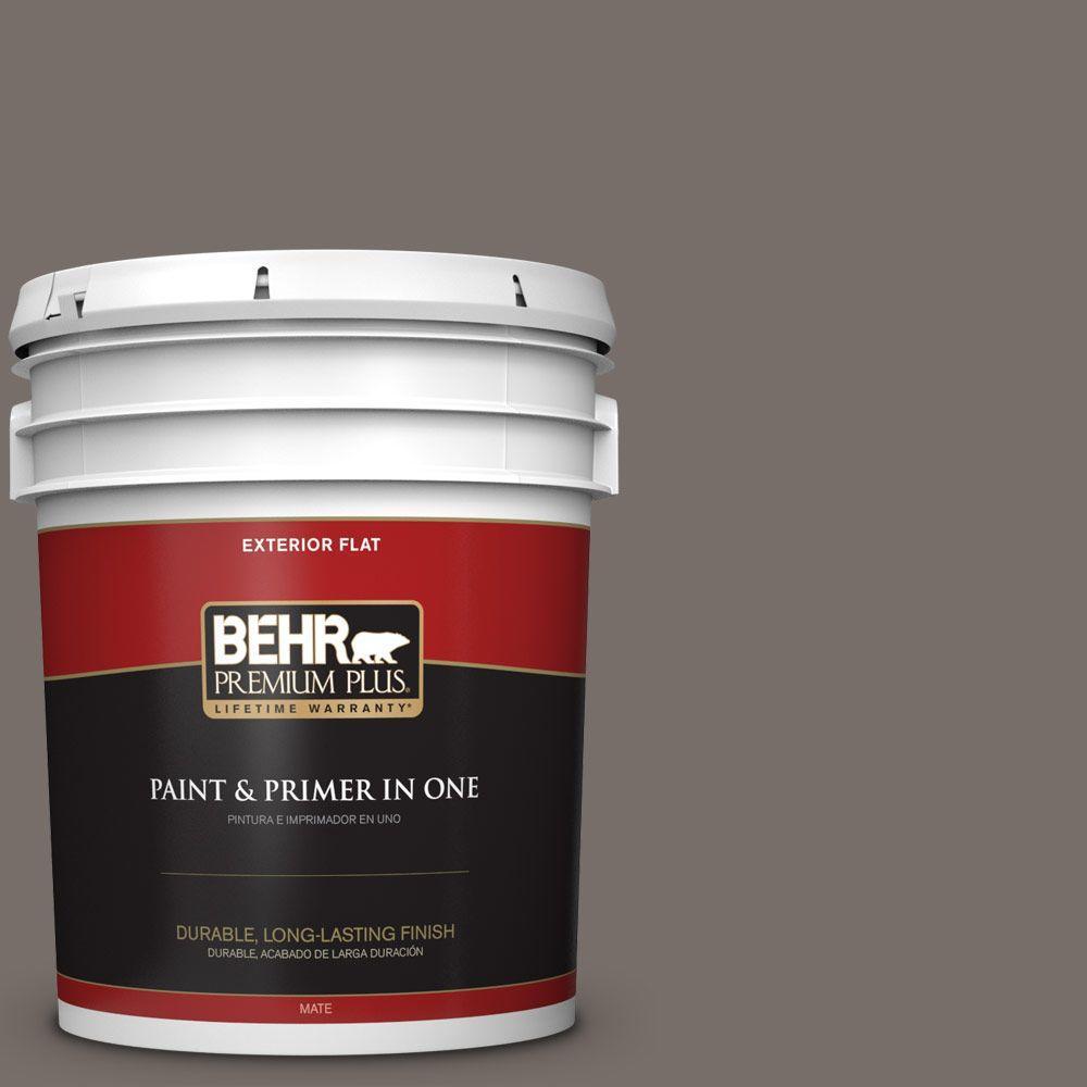 BEHR Premium Plus 5-gal. #BNC-37 Gray Owl Flat Exterior Paint