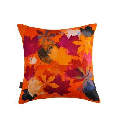 Autumn Leaves Reversible 20 in. x 20 in. Decorative Pillow