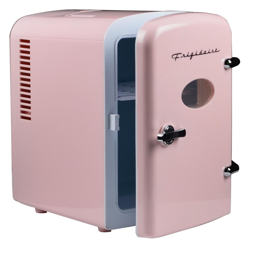 Frigidaire - 0.3 cu. ft. 6-Can Retro Mini Fridge in Pink