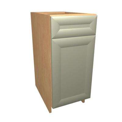 Dolomiti Ready to Assemble 15 x 34.5 x 24 in. Base Cabinet with 1 Soft Close Door and 1 Soft Close Drawer in Almond