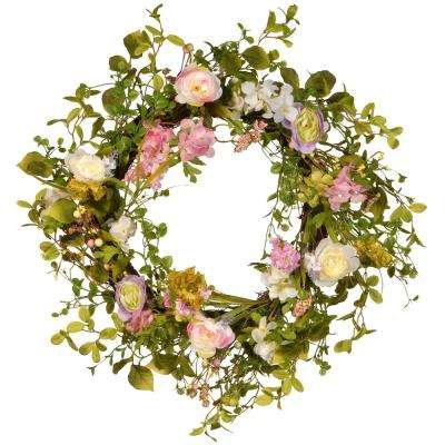 24 in. Decorative Spring Wreath