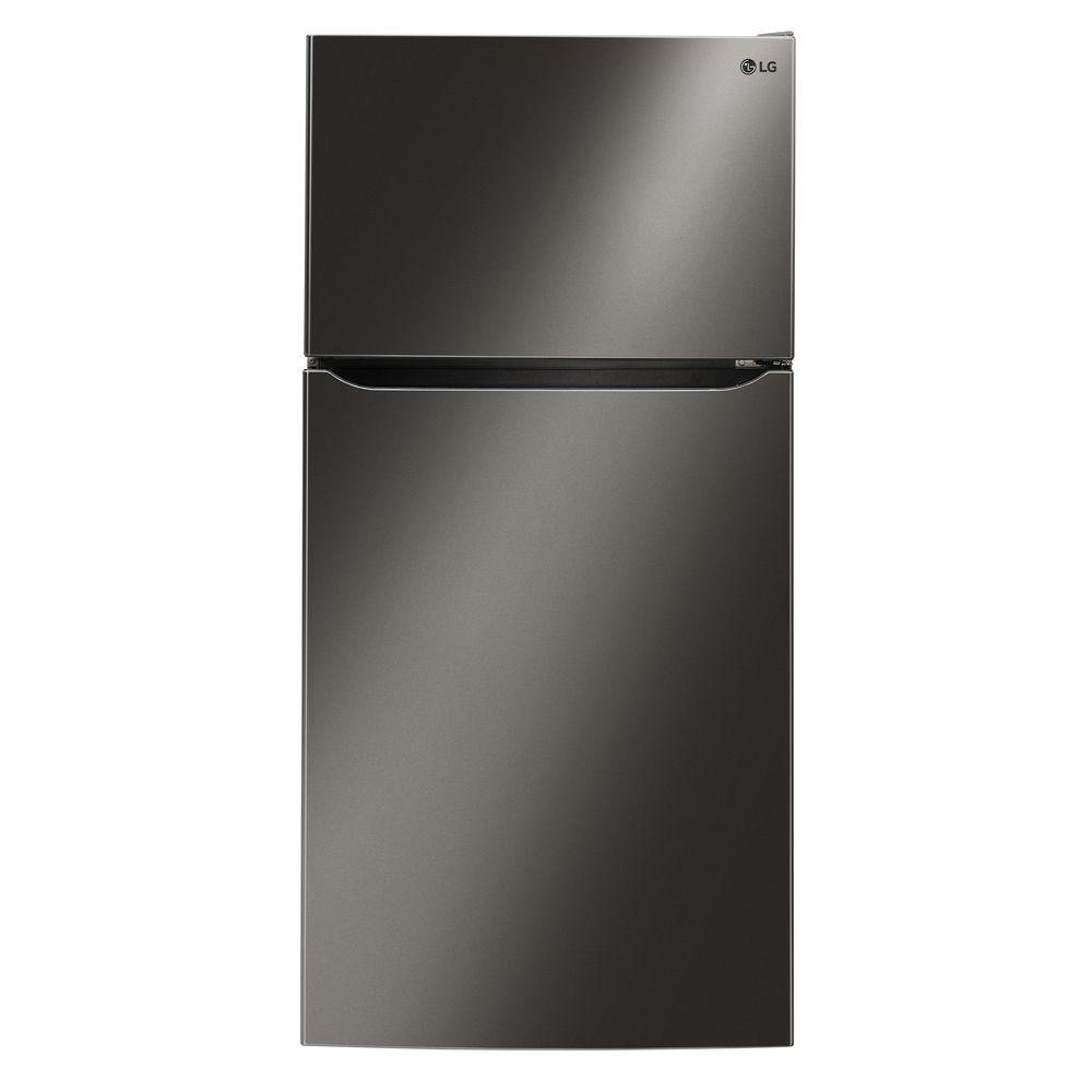 LG Electronics 23.8 cu. ft. Top Freezer Refrigerator in Black Stainless Steel