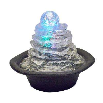 7.5 in. Rock Climb Ice Table Fountain with Multi Lights