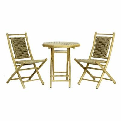 Shelly Brown Bamboo, Natural Sea Grass Bamboo Modern Dining Chair (Set of 2)