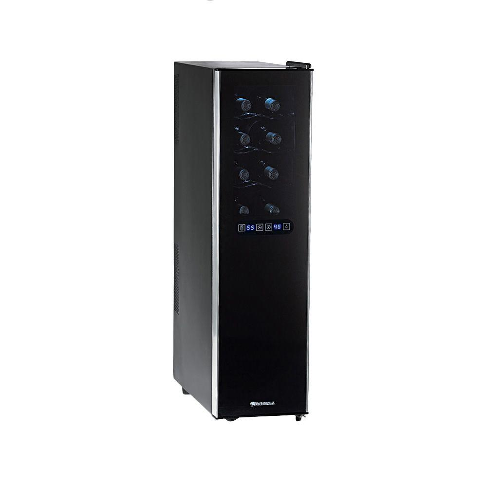 Wine Enthusiast Silent 18-Bottle Dual Zone Touchscreen Slimline Wine Cooler